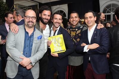 Rodrigo Flores-Roux, Hans Neumann, Carlos Huber, Anamorado y Gabriel Rivera-Barraza.