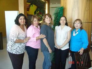 16112016 Laura, Katy, Amparo, Lety y Elba.