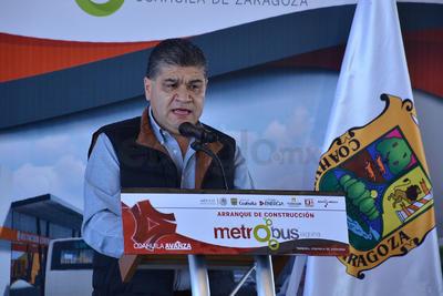El alcalde Miguel Ángel Riquelme Solís declaró que el inicio de la construcción de la infraestructura para la ruta troncal del Sistema de Transporte Metropolitano Metrobús, no tiene reversa.
