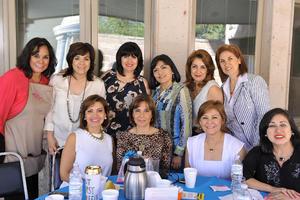 19112016 Mayra, Laura, Rosario, Diana, Conchita y Lupita en compañía de Miguel Chong, presidente de APIN.