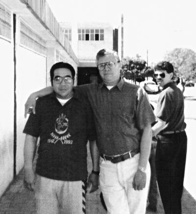 20112016 Ricardo Salvador TeaWong y Melchor Rodríguez Mena en 1996.