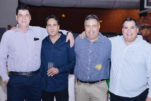 20112016 AMIGOS.  Javier, Felipe, Javier y Jorge.