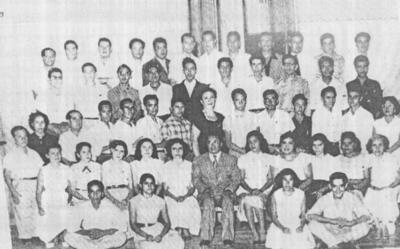 27112016 Primera generación de alumnos de la Escuela Secundaria Federal Nocturna por Cooperación No. XXVIII, 1951 - 1953.