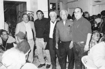 27112016 Zeferino, Octavio Díaz, Agustín Macías (f), Fernando López (f) y Jaime Montoya.