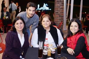 29112016 COMPAñEROS.  Diana, Mauro, Daniela, Michelle y Saidee.
