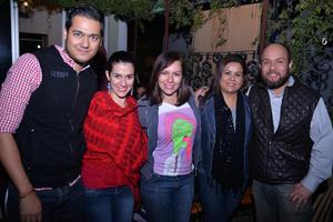 01122016 Fernando, Rocío, Cristy, Ana y Franz.