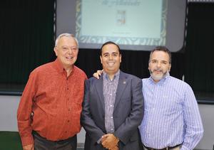 02122016 P. Juan Luis Orozco SJ, Rector Armando Mercado y P. Guillermo Prieto SJ.