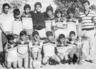 """04122016 Integrantes del equipo deportivo Guadalajara, que participó en la Liga Asqueles y Prospectos """"Pedro Pérez Castañón""""."""
