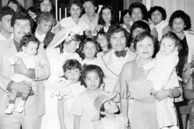 04122016 Onésimo, Dolores, Jesús y Josefa, el día de su boda en 1980.