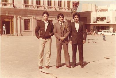 04122016 Lic. Antonio Rodela. Ing. Humberto Torres y Lic. Osar Gastaldi en Saltillo, Coah en Dic. de 1982