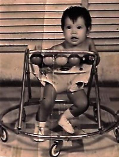 El niño Jorge Hernández Saucedo, en 1973 en sesión fotográfica.