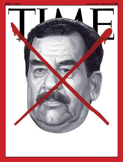 Saddam Hussein. Un personaje emblemático en la historia, que se suma a la lista de portadas polémicas de los enemigos caídos de E.U, en la revista Time.