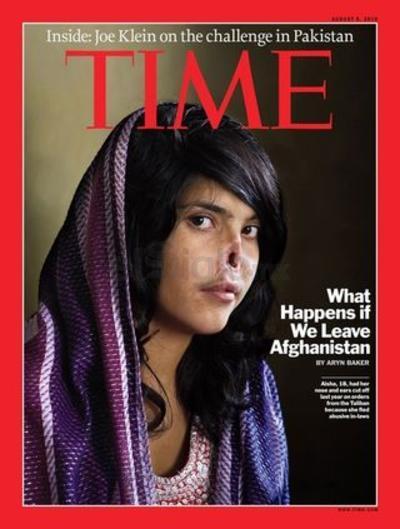 """""""What happens if we leave Afghanistan"""" (Lo que pasa si abandonamos Afganistán). No necesita de muchas explicaciones. Esta portada publicada en el año 2010, fue criticada por muchos y aplaudida por otros tantos."""