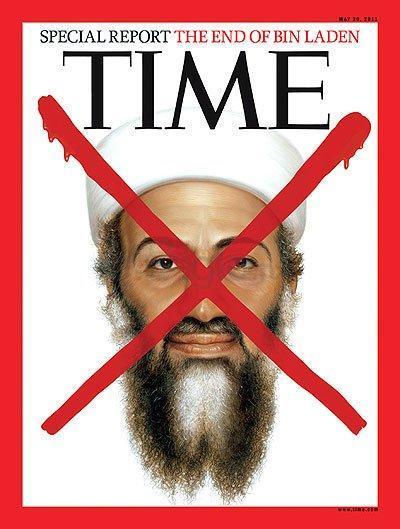 Osama Bin Laden. Si bien, la revista Time tiene como sello distintivo, cada vez que un enemigo de E.U. es vencido incluyen su foto en la portada. Este personaje sin duda, tenía que estar en las portadas más polémicas de la historia.