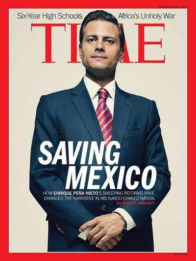 """Nuestro presidente de México, Enrique Peña Nieto que en el año 2014 apareció como portada de Time con la frase """"Saving Mexico"""" (Salvando a México) generó furor negativo en las redes sociales haciendo polémica y controversia en todos los mexicanos."""