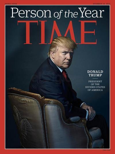 """La elección de Donald Trump como """"persona del año"""" de este 2016 ha desencadenado polémica en redes sociales.  Time lo puso en su portada ante su influencia """"para bien o para mal"""" en el mundo."""