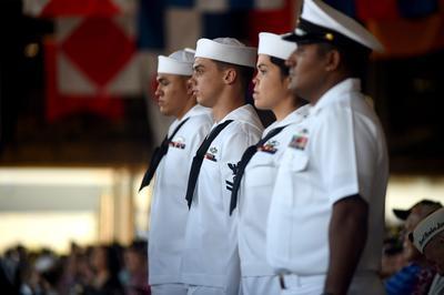 En Pearl Harbor, Hawaii, las conmemoraciones no se dejaron de lado.