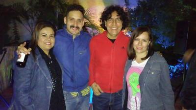 08122016 Ana, Marcelo, Raúl y Cristy.