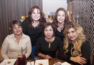 08122016 Juanita, Lupita, Elisa, Claudia y Fabiola.