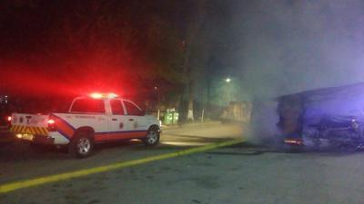 Alonso Gómez Vizcarra, director de Protección Civil, informó que el fuego consumió los 44 puestos instalados desde el primero de este mes.