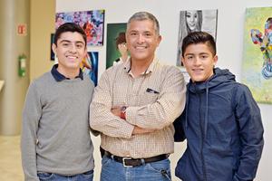 11122016 EVENTO CULTURAL.  Luis, Luis Ernesto y Julio.