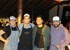 12122016 Sol Cervantes, Billy Ayala, Óscar Aguilar y Moncho Gutiérrez.