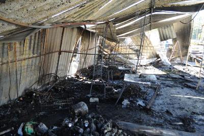 Se tuvo pérdida total de toda la mercancía, misma que se encontraba guardada en el tradicional mercadito del Parque Morelos.