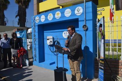 El Instituto Sueco Mexicano de Energía Renovable en Torreón, inauguró ayer la primera Electrolinera de todo el estado de Coahuila