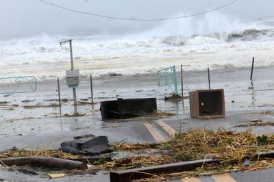 El huracán Matthew, que atravesó el Caribe y llegó a Estados Unidos en octubre y destruyó varias ciudades.