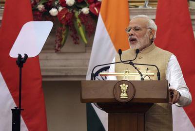 9.- Narendra Modi, Primer Ministro de India