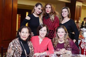 16122016 Isela, Cony, Elena, Irma, Malena y Sandra.