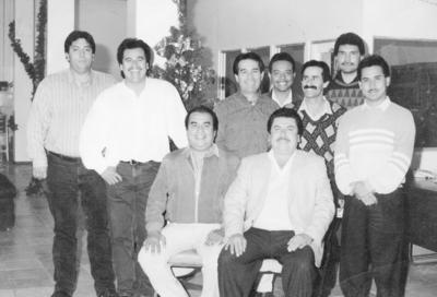18122016 Ramón, Javier, Francisco, Josué, Elías, Eleazar, Fortino Reyna, Jaime Montoya y Julio López.