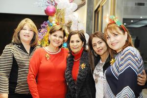 22122016 Martha, Mayela, Claudia, Silvia y Laura.