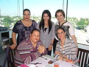 24122016 CONVIVEN.  Margarita, Jessica, Cristina, Liliana y Alejandra.