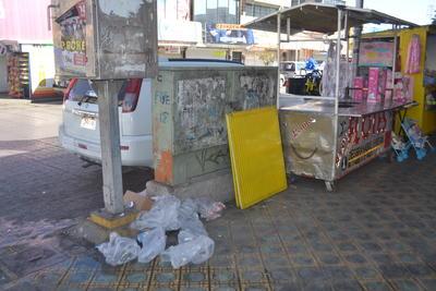 La basura resaltaba sobretodo en algunas esquinas del Centro Histórico y en diversas colonias de la ciudad.