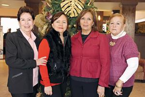 28122016 CUMPLE UN AÑO MÁS DE VIDA.  Conchis de Ortiz celebró su cumpleaños en compañía de sus amigas, Cony Escamilla, Laura Velázquez y Lupita Orozco.