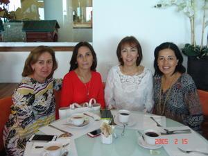 28122016 ENTRE AMIGAS.  Dora, Flor, Jany y Mirna.