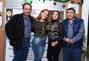 30122016 Jorge Quintanilla, Xóchitl de la Rosa, Esther Torres y Gilberto Ramírez.