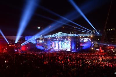 Concierto de fin de año en Helsinki, Finlandia, en el norte europeo.