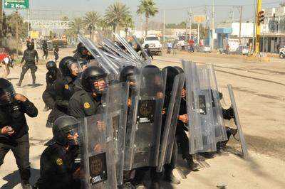 Durante la madrugada de ayer jueves arribaron al lugar diferentes grupos de Fuerza Coahuila en acatamiento de un operativo especial.