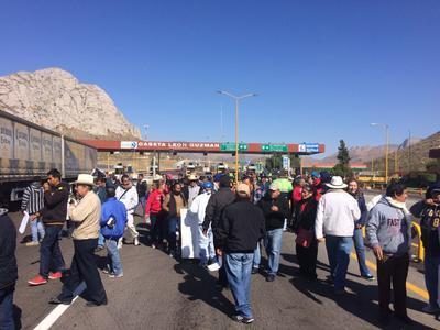 Nuevamente la caseta de León Guzmán fue escenario de protestas.