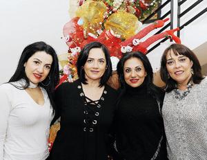 09012017 EN FESTEJO.  Lorena, Yadira, Ale y Cristy.
