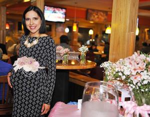 08012017 ESPERA LA LLEGADA DE ELOíSA.  Isolda Castillo de Guerra en su baby shower.