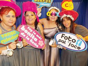 08012017 Damas de la novia: Ana Laura, Marlene, Janeth y Areli.