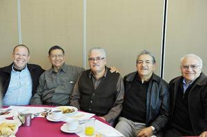 10012017 Ismael Téllez, Jaime Méndez, Enrique Castillo, Humberto Pérez y Manuel Velasco.