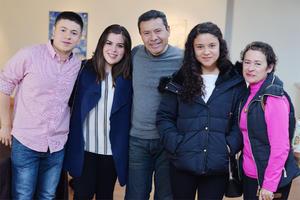 11012017 Gabriel, Sabrina, Gabriel, Valeria y Lupita.