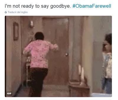 'No estoy listo para decir adiós'. Afirmaban los tuiteros, tras discurso final de Obama.