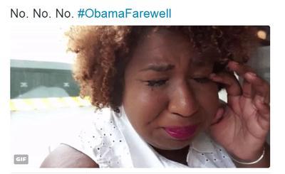 El hashtag #ObamaFarewell fue tendencia en Twitter.