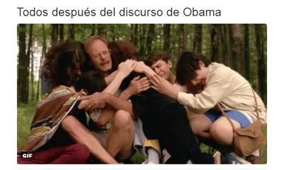 Así se sentían los usuarios ante el discurso de Obama.
