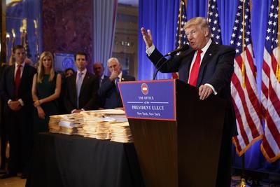 Seis meses después de la última, el presidente electo de Estados Unidos, Donald Trump, ofreció una conferencia de prensa.